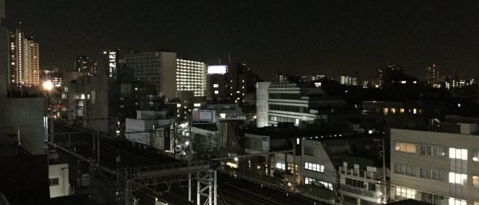 会社の窓から 夜景